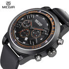 Megir Brand Luxury Men Watch Fashoin Casual Sport Quartz Rubber Silicone Watches