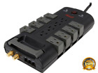 Power Surge Protector Strip Home Computer Standby Supply Cord Length 6ft NEW