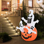 6FT Inflatable Halloween Ghosts Pumpkin Lighted Airblown Outdoor Yard Decoration