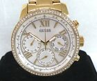 GUESS Women's U0559L2 Sporty Gold-Tone Stainless Steel Watch Chronograph
