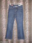 Gap Womens Vintage Stretch Boot Cut Fringed Hemline Denim Blue Jeans Size 2A