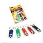 NIP Buck Light Powerful LED Keychain Lights 5 Pack Assorted Colors Ultra Bright