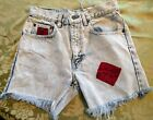 Vintage GAP Medium Dark Wash Mid Waisted Rise Cut Offs Cuffed Denim Shorts 28