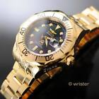 Automatic Invicta Mens Pro Grand Diver Black MOP Dial 18k Gold Plated $595 Watch
