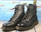 Dr Martens 1460 8 Eye Black Smooth Mens Leather Boots Sz Men10 Women11 UK 9