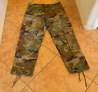 USGI BDU ARMY WOODLAND CAMO MILITARY MENS NYLON COTTON PANTS Sz LARGE REG