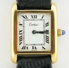 Vintage Cartier Tank 18k Electroplated Gold Manual Wind Watch
