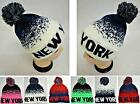 72 PC Lot NEW YORK Assorted Digital Fade Beanie PomPom Toboggan Winter Hats