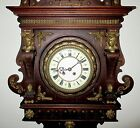 Superb Antique Mantel Clock w Bronze approx1880 1900