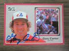 1983 Donruss Action All Star # 58 Gary Carter Autograph Signed Card Expos