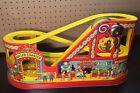 Vintage J Chein 1950s Tin Litho Windup Roller Coaster Toy Car Antique Early USA