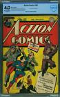 Action Comics #69 CBCS 4.0 DC 1944 Superman Cover! Prankster! Like CGC! G8 1 cm