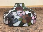 Dale Tiffany Stained Glass Lamp Shade Only Butterflies Flowers