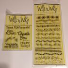 Will n Way Clear Stamps WHIMSY BORDERS THANKS AND MORE LOT Ladybugs Grass Party