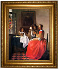 Vermeer The girl with a wine glass Framed Canvas Print Repro 16x20