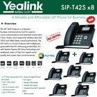 Yealink IPPhone SIP-T42S 8-Pack Dual-port Gigabit Ethernet PoE support