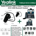 Yealink SIP-T49G IPPhone 2PACK 16Lines+Hypercel 2PACK ECO-V268 Bluetooth Headset