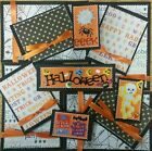 Premade Scrapbook Page Embellishment Kit SEWN 12 pieces Halloween Time