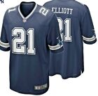 Authentic Nike NFL Game Jersey Ezekiel Elliott #21 Dallas Cowboys Replica NWT