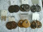 Wood Earrings Assorted Styles NEW