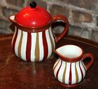 Certified International Coffee House Waiters Teapot and Creamer Tracy Flickinger
