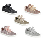 New Womens Sequin Casual Lace Up Tennis Shoes Glitter All Over Sneakers Sz 5 10