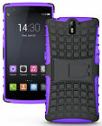 PURPLE GRENADE GRIP RUGGED TPU SKIN HARD CASE COVER STAND FOR ONEPLUS ONE PHONE