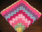 HANDMADE CROCHETED DOLL BLANKET AMERICAN GIRL  BITTY BABY 9 PRETTY COLORS