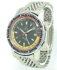 Vintage Enicar Sherpa Guide Automatic GMT zweite Zeitzone Stahl/Stahlband