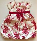 EUC Crazy 8 by Gymboree Dress Girls Size 3 3T Red Ivory Christmas Holiday Dress