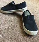 FADED GLORY Toddler Boys Black White Slip On Canvas Shoes Toddler Size 9