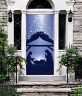 Nativity Silhouette Front Door Cover Jesus Christmas Entry Door Decor ON139