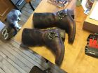 ARIAT Motorcycle Biker Harness Western Distressed Leather Boots Womens US 9B