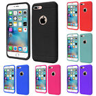 For iPhone 7 Plus Rugged Rubber Ultra Slim Gel Soft Silicone Skin Cover Case
