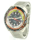 Vintage Enicar Sherpa Guide Automatic GMT 166-35-04 Stahl/Stahlband NOS Zustand!