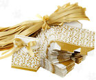 50 x DIY Wedding Party Birthday Gift Ribbon Favours Candy Paper Sweet Boxes Gold