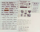 Clear Stamp Sets Lot of Mixed Planner Stamps Weather Report Months Words 5682A