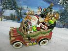 Fitz & Floyd Santa Mobile Musical Vintage Car Wish you a Merry Christmas 1426