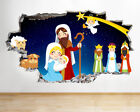 Wall Stickers Nativity Christmas Star Angel Smashed Decal 3D Art Vinyl Room G995