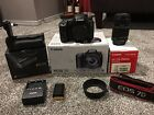 Canon EOS 7D 180MP DSLR Camera with EFS 55mm 250mm Lens and Battery Grip