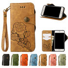 Roses Strap Wallet PU Leather Stand Card Slot Flip Case Cover For Samsung Galaxy