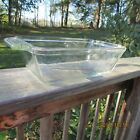 Anchor Ovenware Loaf Dish Pan 1041 1.5 QT Heavy Clear Glass USA Bread Meat