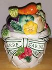 Fitz Floyd Herb Garden Small Canister  EXCELLENT condition!