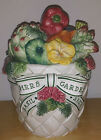 Fitz Floyd Herb Garden Large Canister  EXCELLENT condition!
