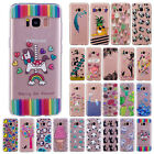 Rubber Silicone Clear Soft TPU Cute Cover Case For Samsung Galaxy Phones Note 8