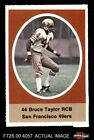 1972 Sunoco Stamps Bruce Taylor 49ers EX/MT