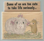 2 STAMPABILITIES Rubber Stamps HOUSE MOUSE Gorgeous Guinea FREE Shipping