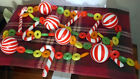 Vintage 60s Christmas Tree Garland Plastic Candy Cane and Lifesavers 5 1 2