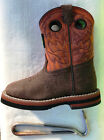 John Deere JD1319 Pull On Infant Toddler Brown Rust Cowboy boots Unisex NWOB