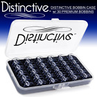 Distinctive Premium Bobbin Box Case with 30 Premium Style SA156 Bobbins Made for